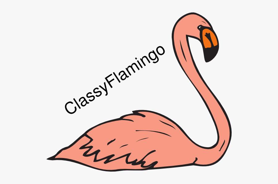 Flamingo Swimming Clipart, Transparent Clipart