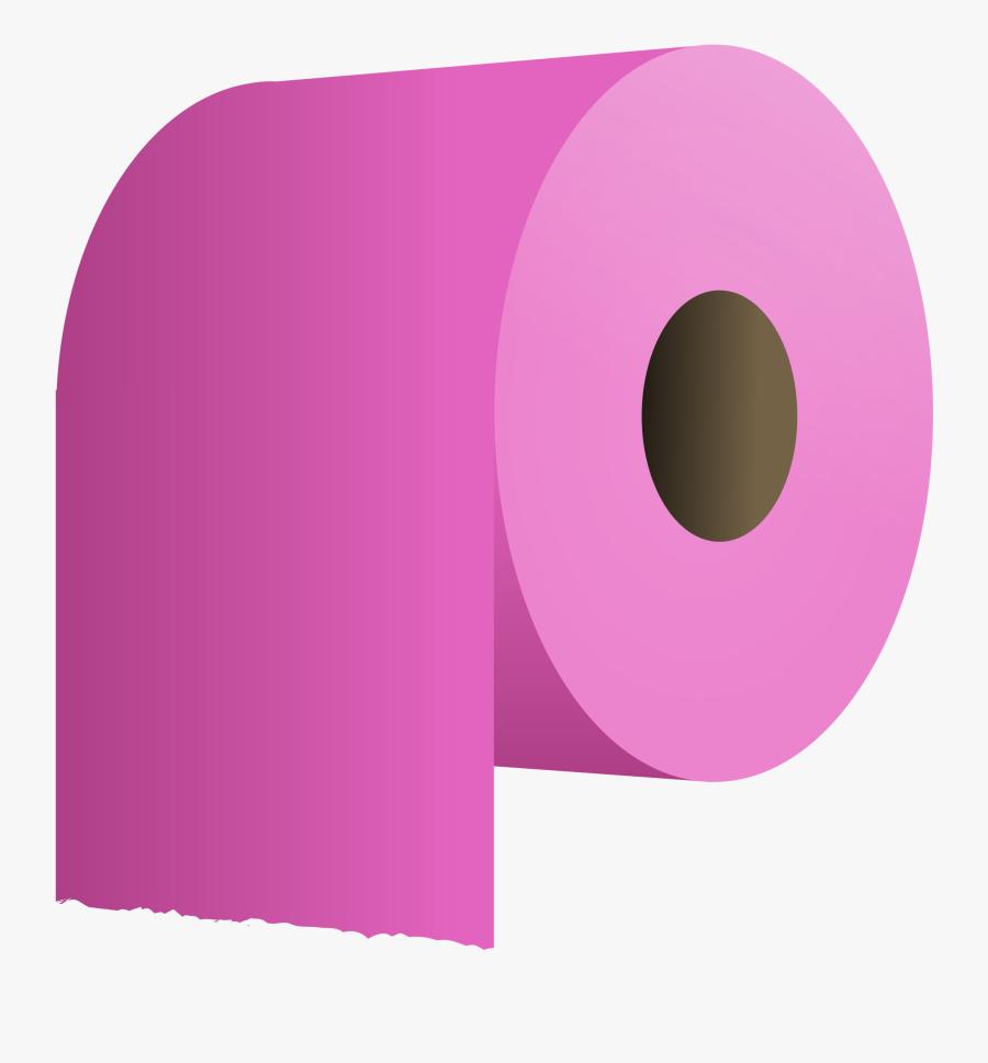 Free Vector Toilet Paper Roll Clip Art - Pink Toilet Paper Rolls, Transparent Clipart