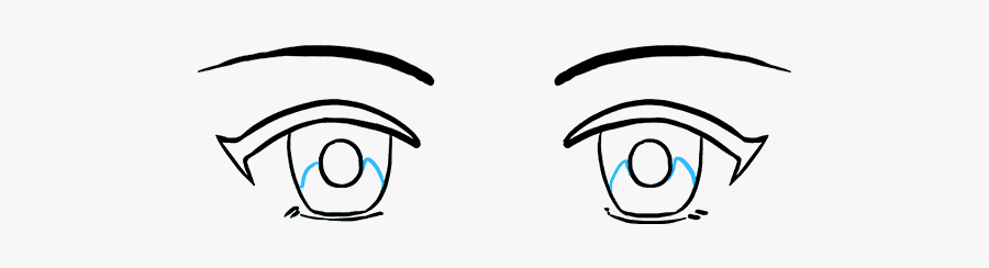 Eye Clipart Rounded - Easy How To Draw Anime Eyes, Transparent Clipart