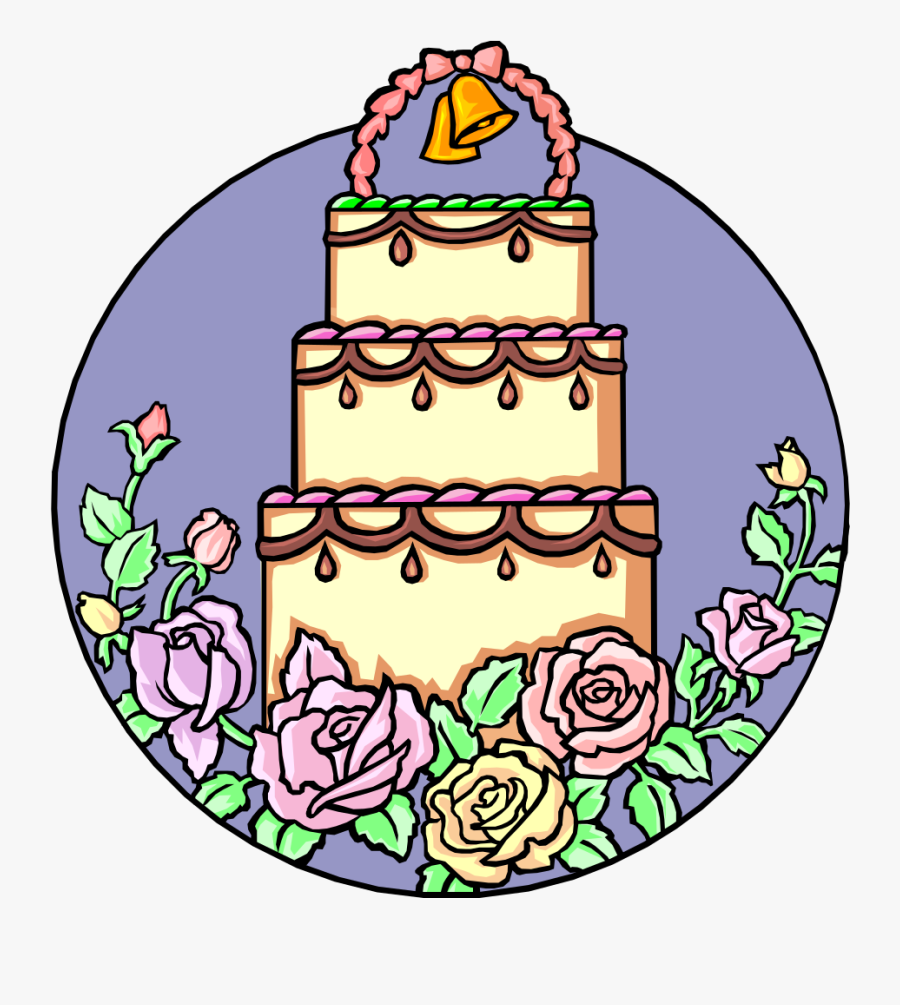 Layered Wedding Cake - Wedding Cake Animated, Transparent Clipart