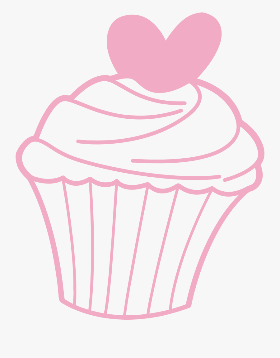 Pink,baking Decorating,cake Decorating Supply,baked - Pink Cupcake Clipart Outline, Transparent Clipart