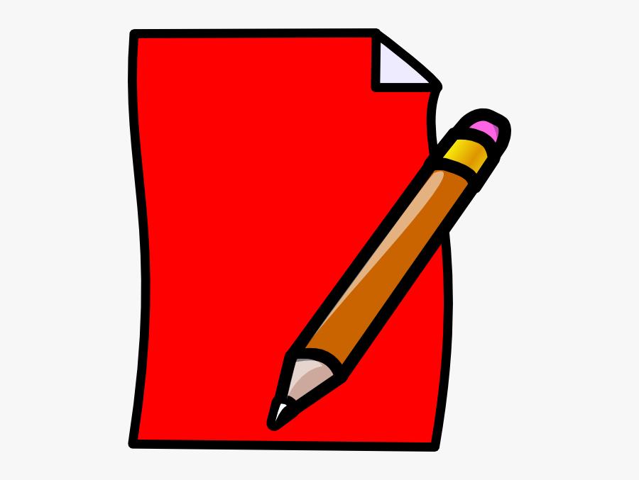 Pencil And Paper Clipart Png, Transparent Clipart