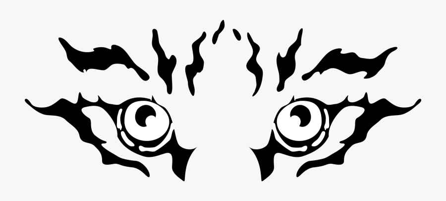 Eyes Black And White Tiger Eyes Clipart Black And White - Tiger Eyes Clipart Black And White, Transparent Clipart