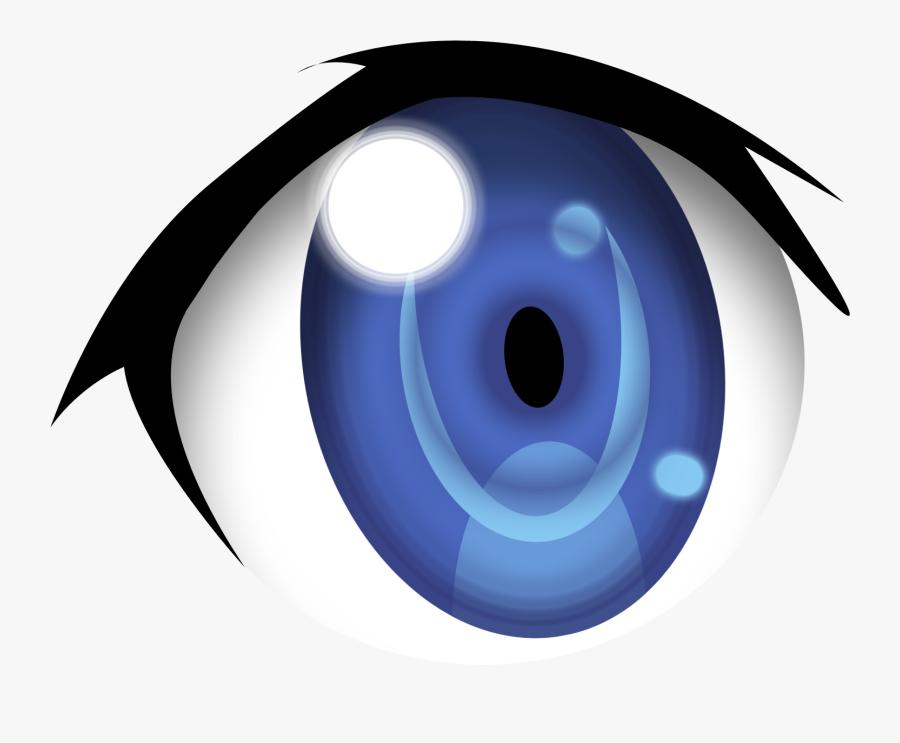 Cartoon Eyes Clip Art - Anime Eyes No Background, Transparent Clipart