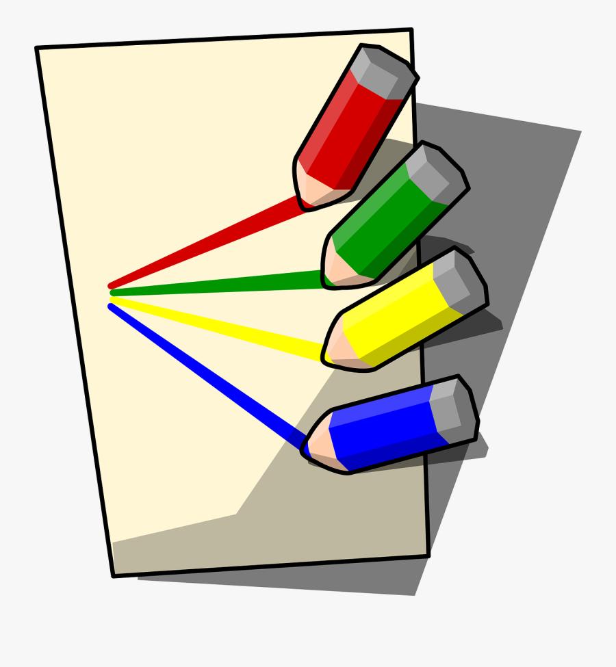 Pencils Clipart, Vector Clip Art Online, Royalty Free - Paper And Pencil Clipart, Transparent Clipart