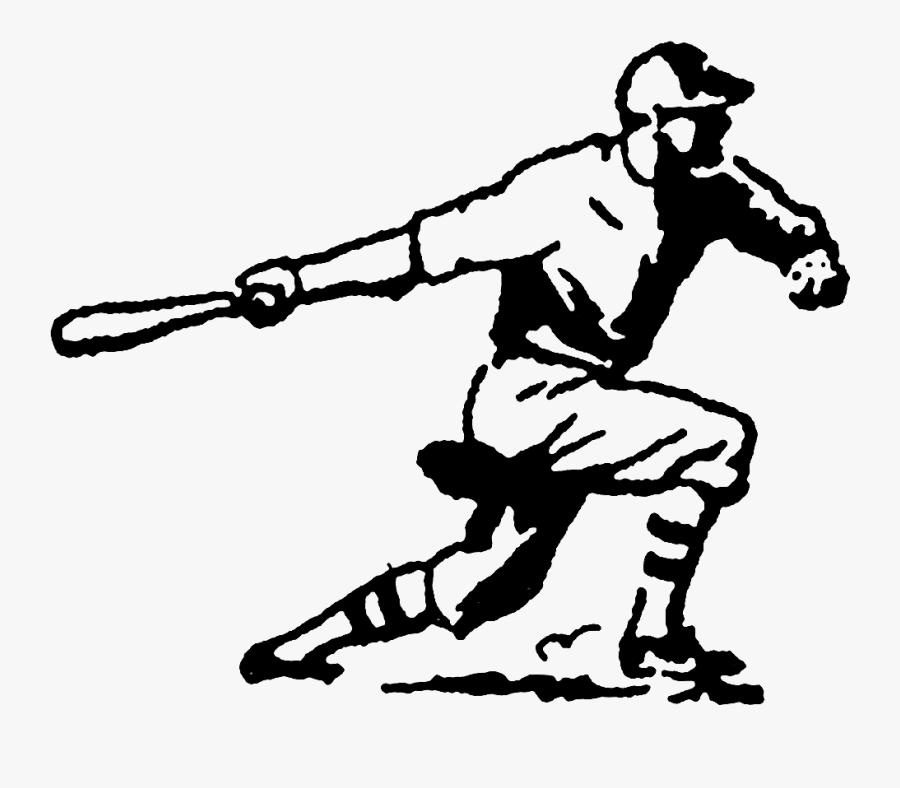 Digital Stamp Design - Vintage Baseball Clip Art, Transparent Clipart