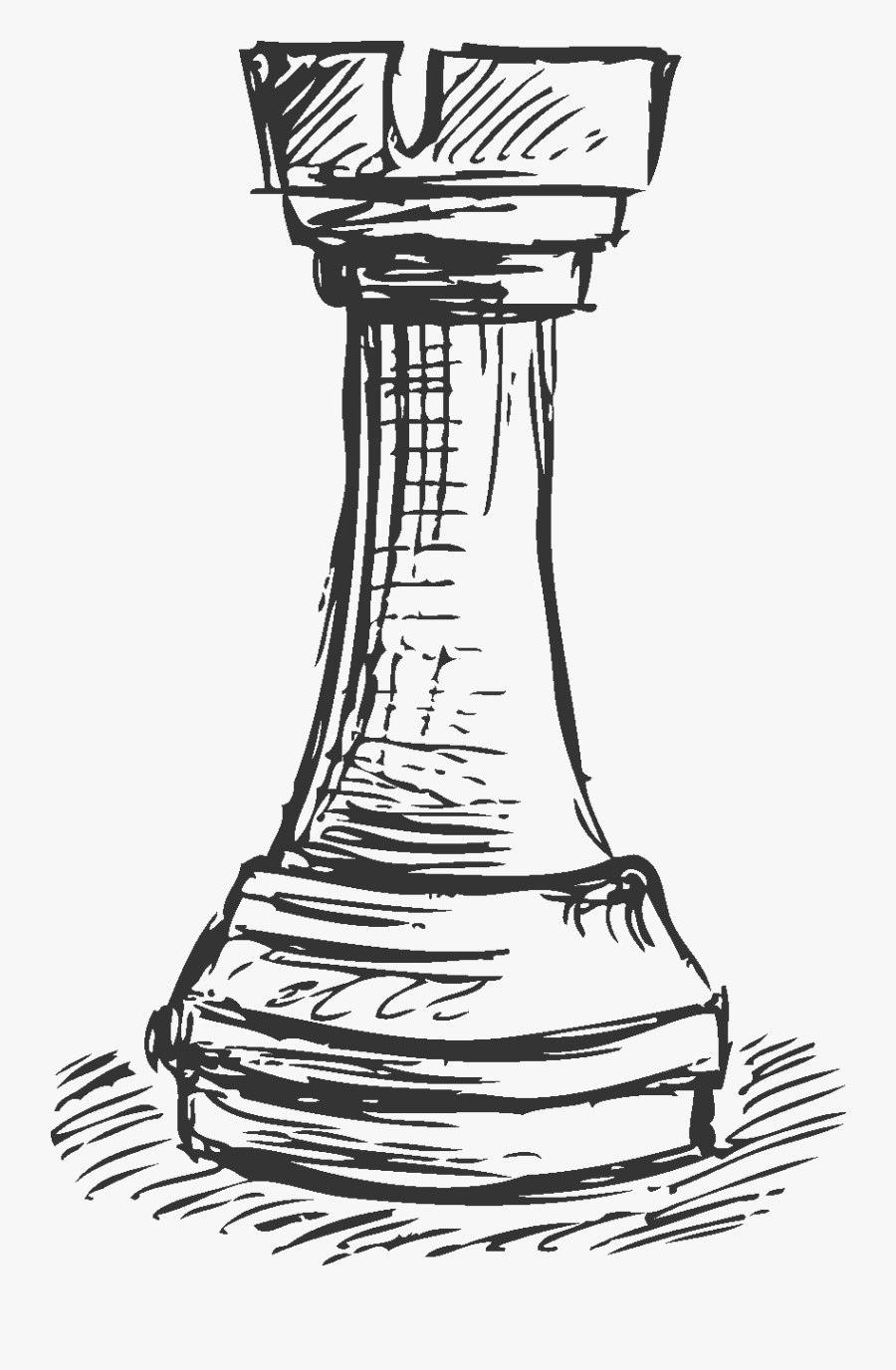 Line Games And Sports,clip - Chess Piece Drawing Png, Transparent Clipart