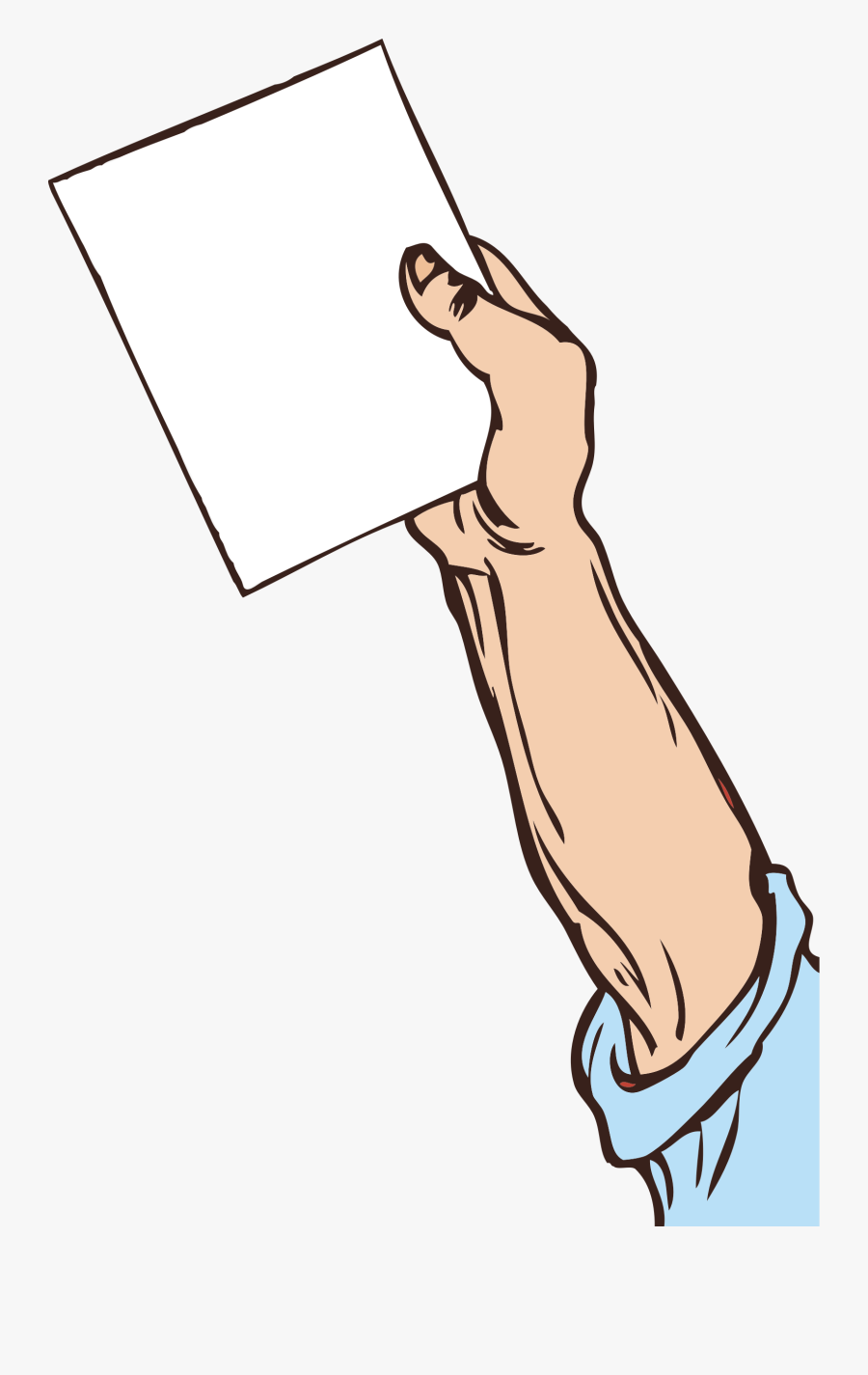 Hand Holding Paper - Handing Over A Paper, Transparent Clipart