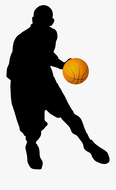 Basketball Player Clipart - Transparent Basketball Player Silhouette Png, Transparent Clipart