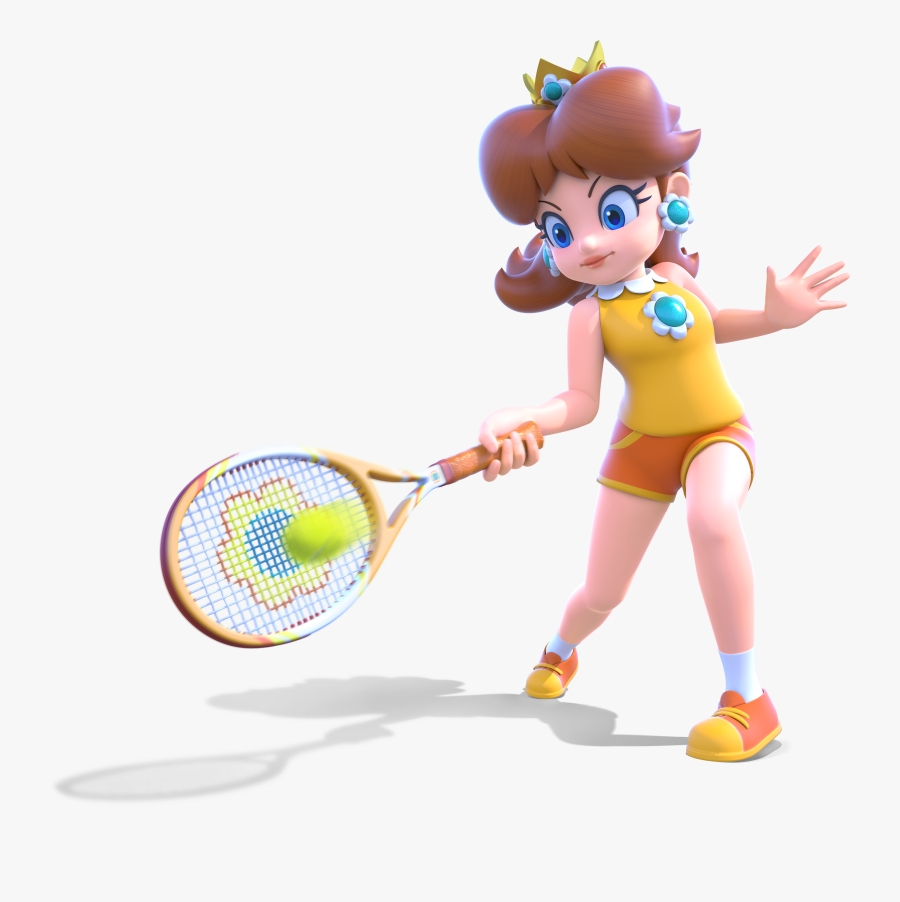 Tennis Player,racket,playing Sports,clip Art,racquet - Mario Tennis Aces Daisy Thicc, Transparent Clipart