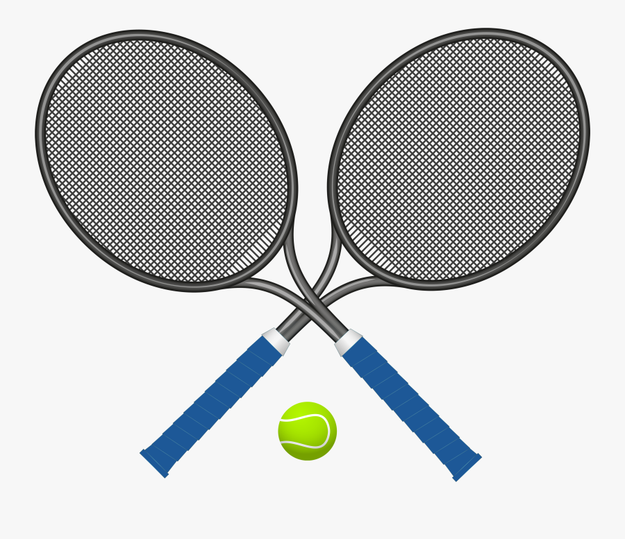 Tennis Rackets With Ball Png Clipart - Tennis Racket Clipart Png, Transparent Clipart