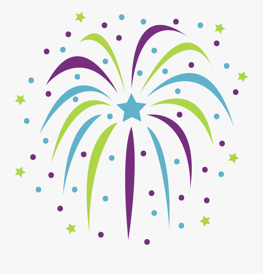Free New Years Confetti Png - Fireworks Clipart, Transparent Clipart