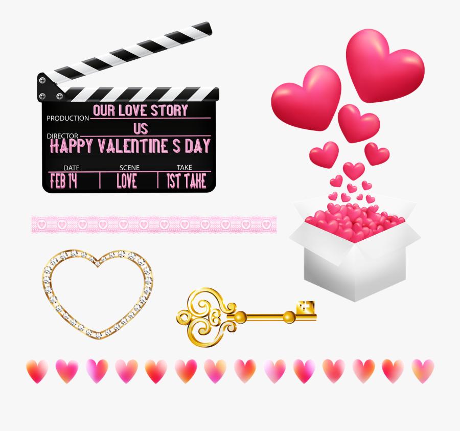 Valentine Clip Art, Valentine Banner, Valentine Candle - Friends Happy Valentines Day, Transparent Clipart