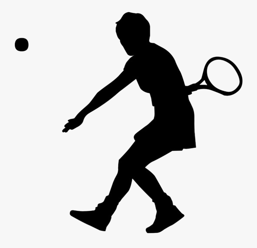 Tennis Clipart Black - Tennis Player Clip Art, Transparent Clipart
