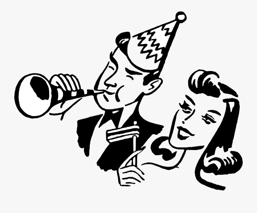 New Years Eve Black And White, Transparent Clipart
