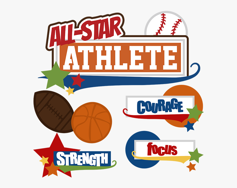 All Star Athlete Svg - All Star Sports Clipart, Transparent Clipart