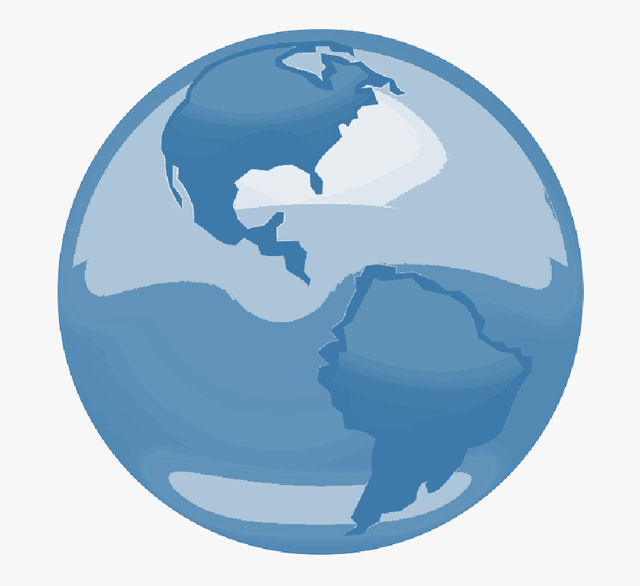 World Globe Map Outline - Central America On A Globe, Transparent Clipart