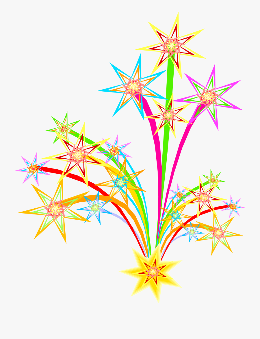 Clipart Stock Bonfire Clipart Night - Clipart New Year Fireworks, Transparent Clipart