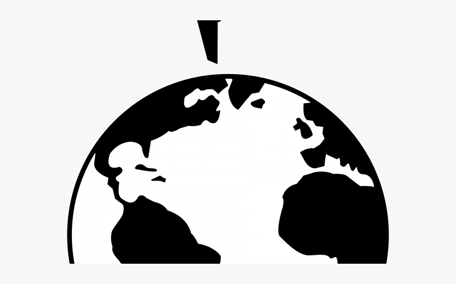 Real World Clipart Earth Transparent Background - Black And White Earth Png, Transparent Clipart