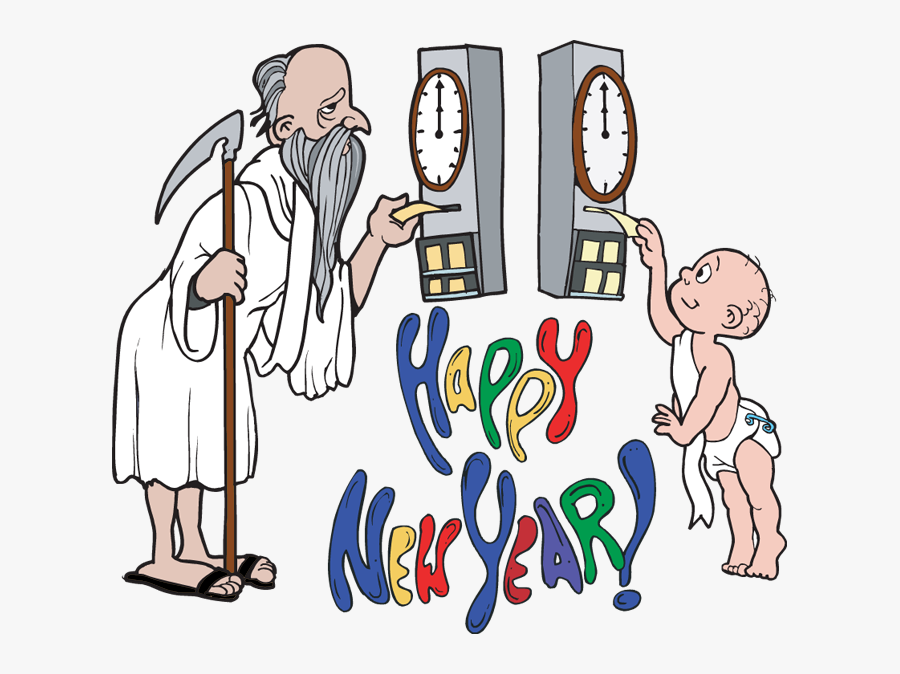 Father Time New Year Clip Art, Transparent Clipart