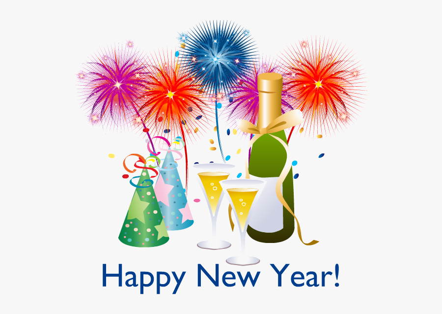 Happy New Year Png - Happy New Year Vector Png, Transparent Clipart