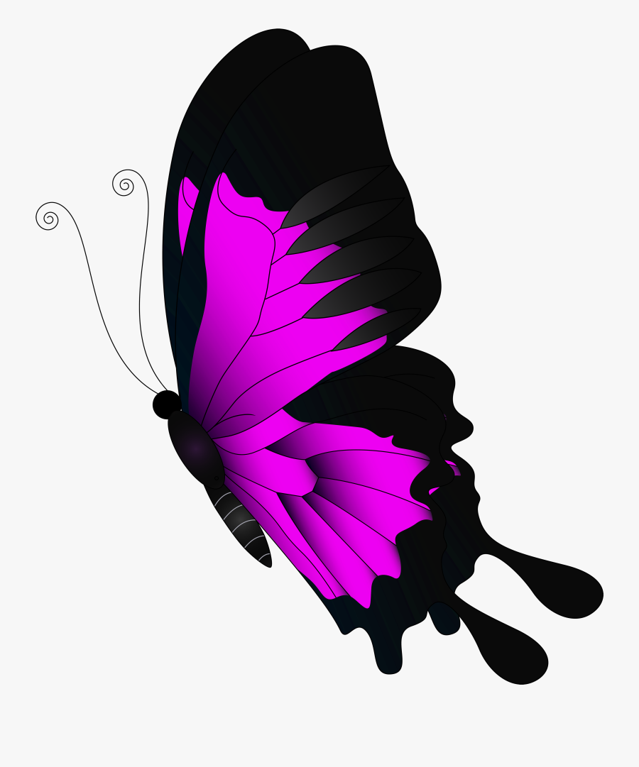 Butterfly Clipart Flying - Red Butterfly Png Transparent, Transparent Clipart