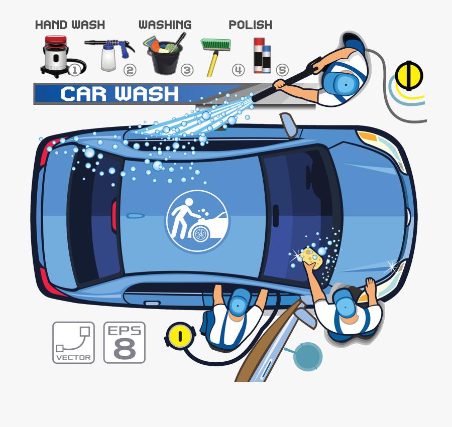 Car Motor Illustration Beauty Work Workshop - Car Wash Logo Design Handwash, Transparent Clipart