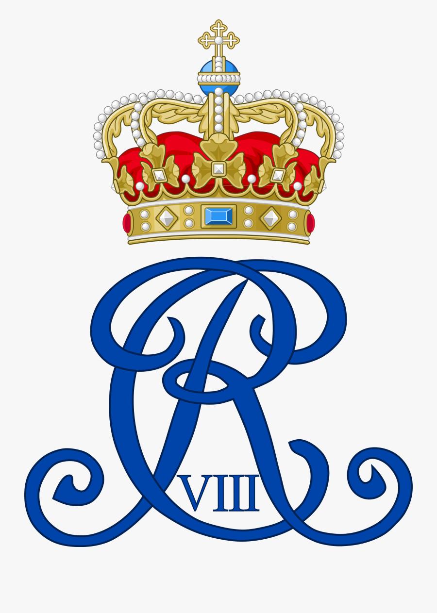 R Clipart Monogram - Kong Frederik V Monogram, Transparent Clipart