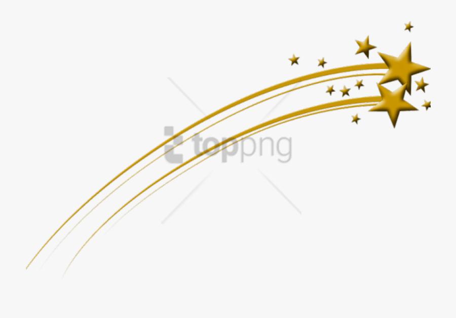 Transparent Star Background Clipart - Clip Art Transparent Background Shooting Star, Transparent Clipart
