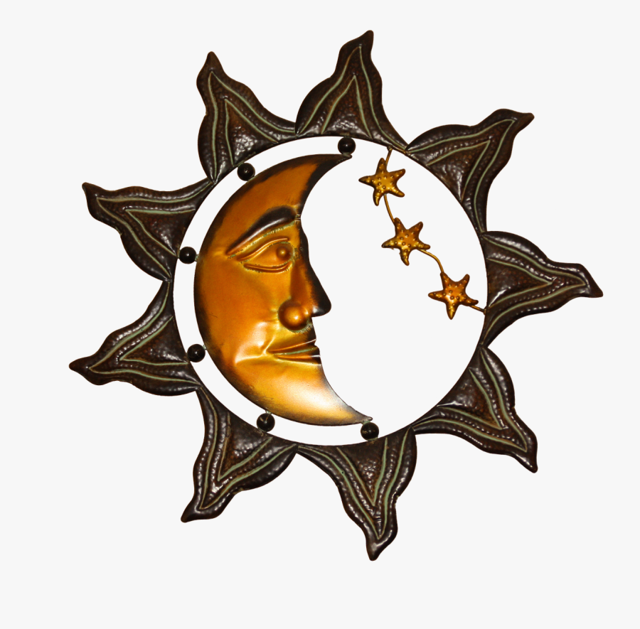 Wall Decoration, Sheet, Metal, Deco, Art, Sun, Moon - Moon Sun Celestial Art, Transparent Clipart