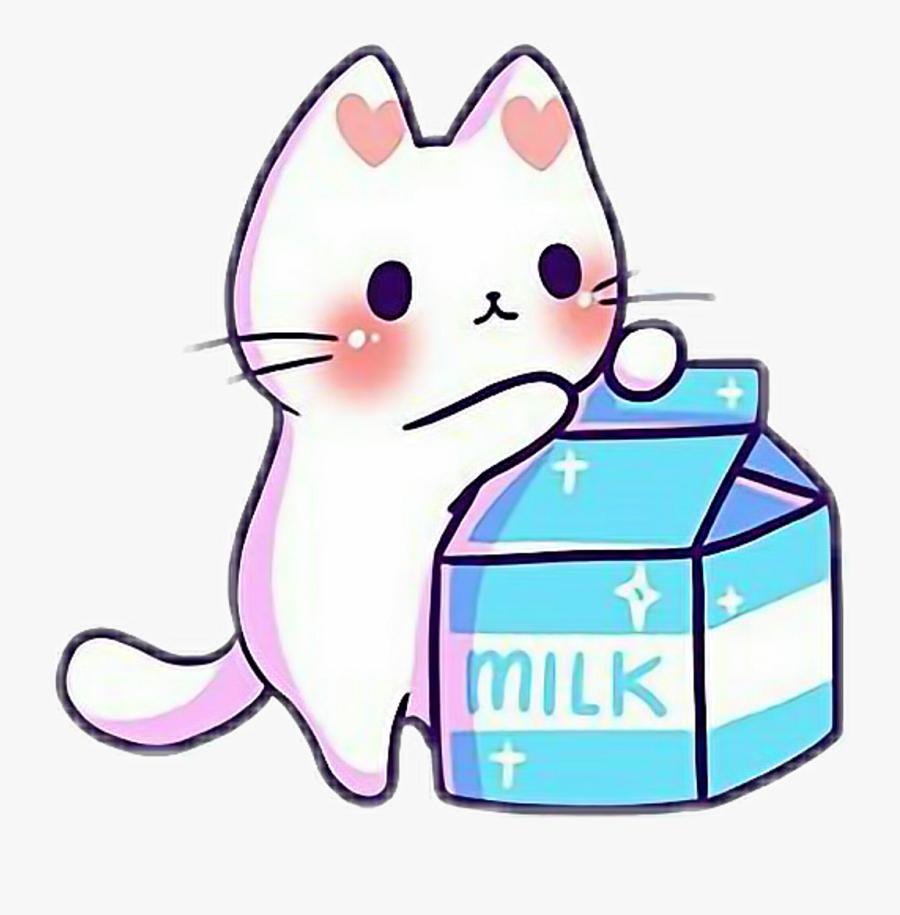 Kawaii Cute Cat Kitten Kitten Kittens Cats Catlove - Cute Cartoon Kawaii Cats, Transparent Clipart