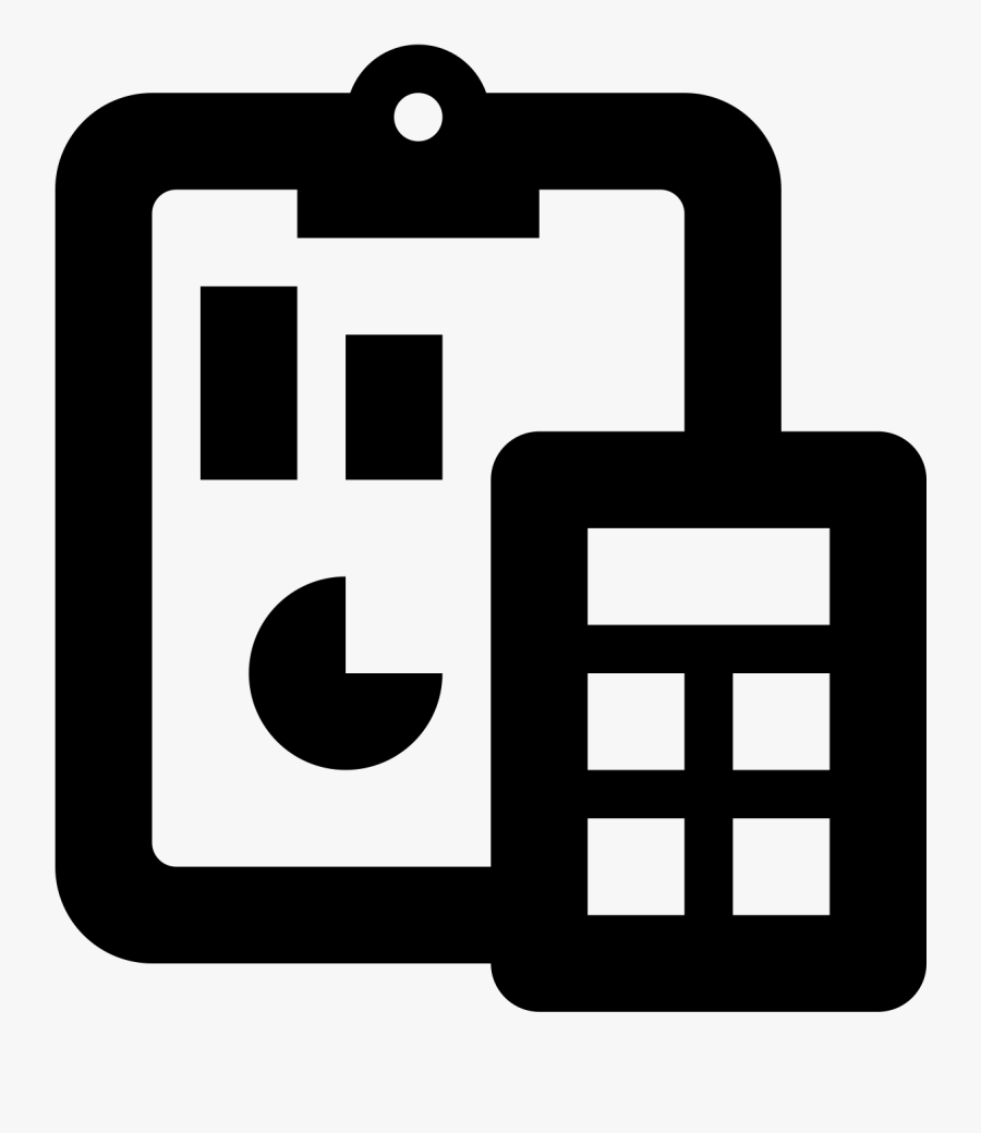 Financial Computer Icons Accountant - Accounting Icon Black And White, Transparent Clipart