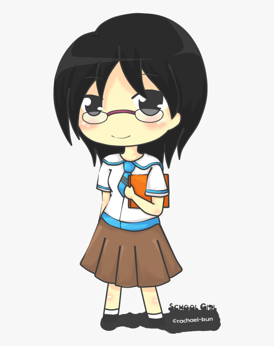 Chibi School Girl 3 By Rachael-kun - Anime School Girls, Transparent Clipart