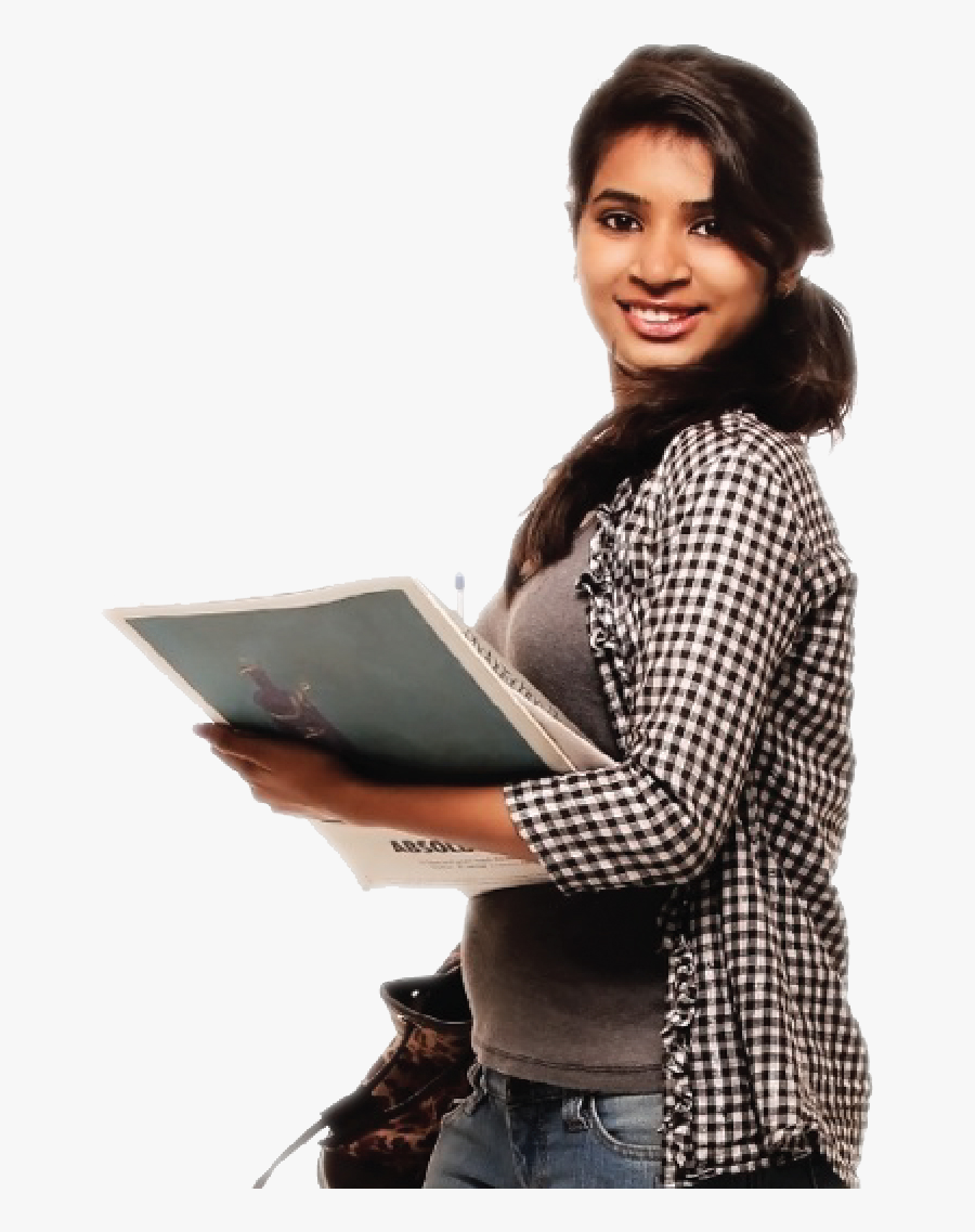 Student Png - Indian College Girl Png, Transparent Clipart