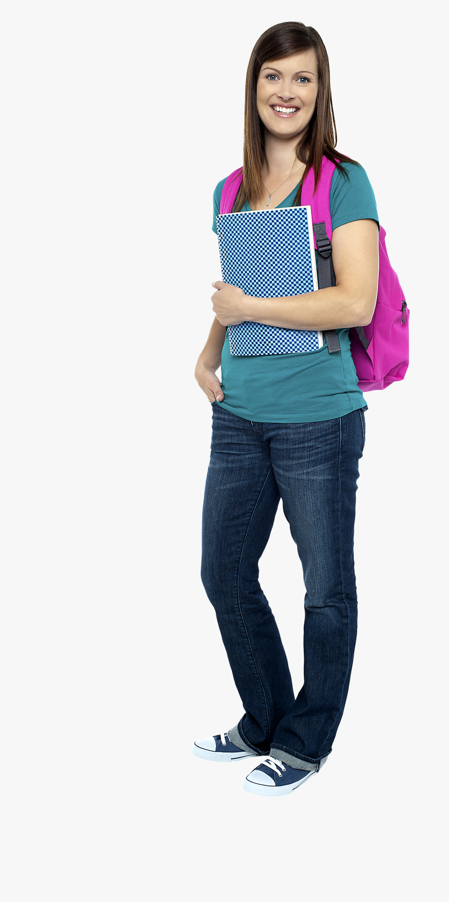 Young Girl Student Png Image - Full Png Student, Transparent Clipart
