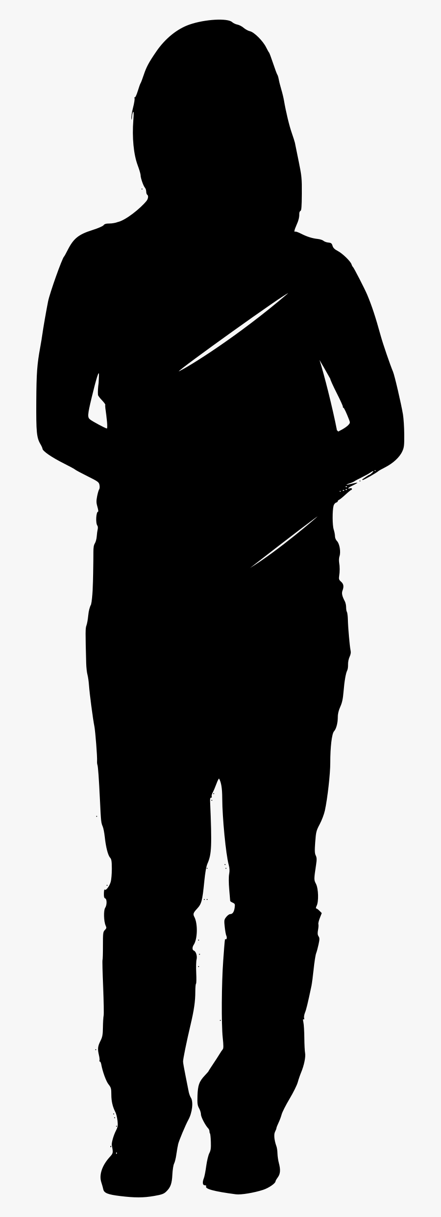 Student Silhouette Png - Girl Student Silhouette Png, Transparent Clipart