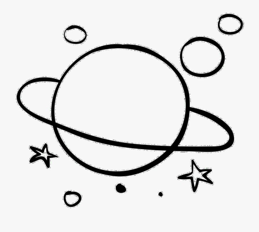 #planet #planets #galaxy #space #background #overlay - Aesthetic Line Art Transparent, Transparent Clipart