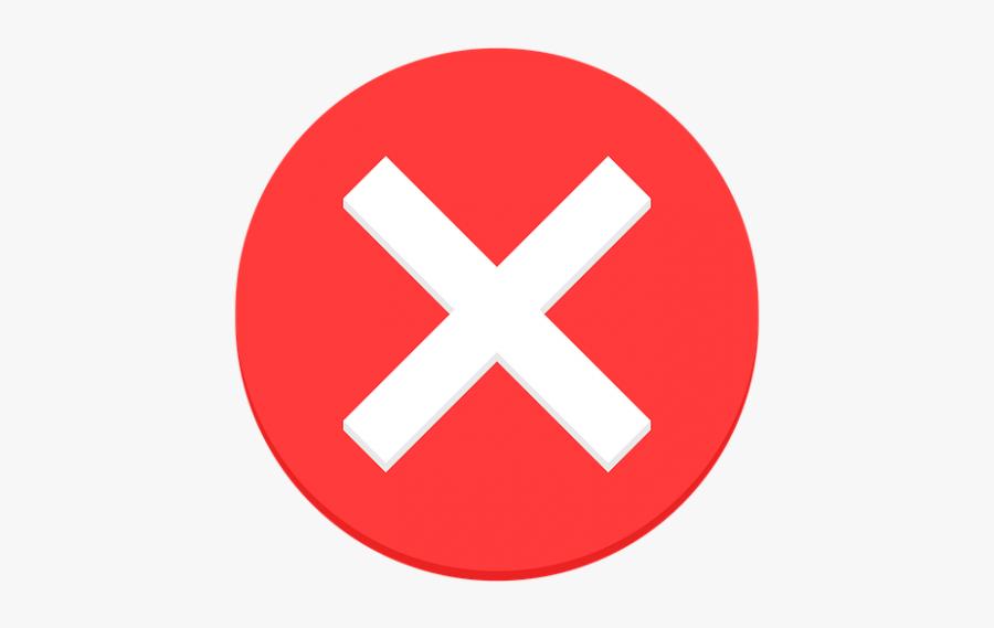 False Png - Red X Circle Png, Transparent Clipart