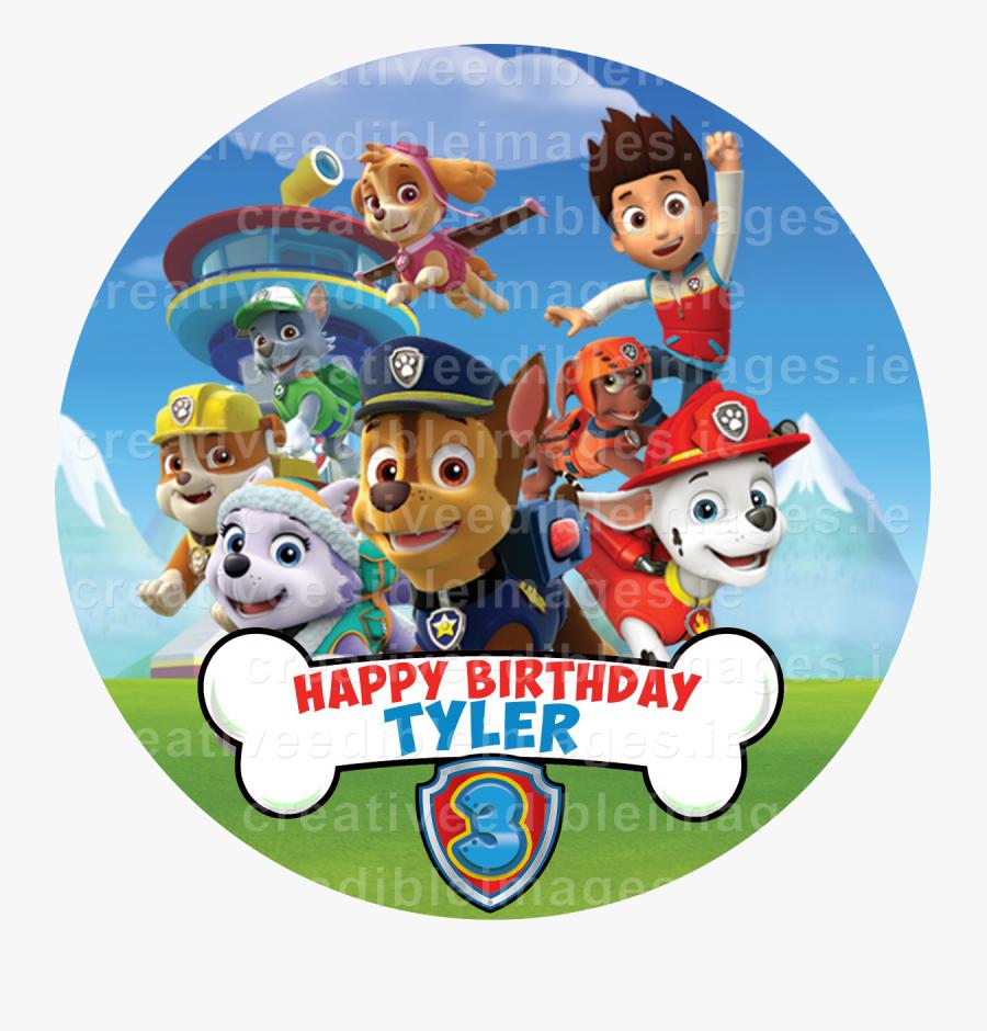 Paw Patrol Happy Birthday Tyler, Transparent Clipart