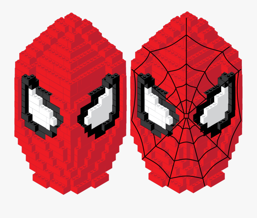 Spiderman Face Png - Lego Bust Spider Man, Transparent Clipart