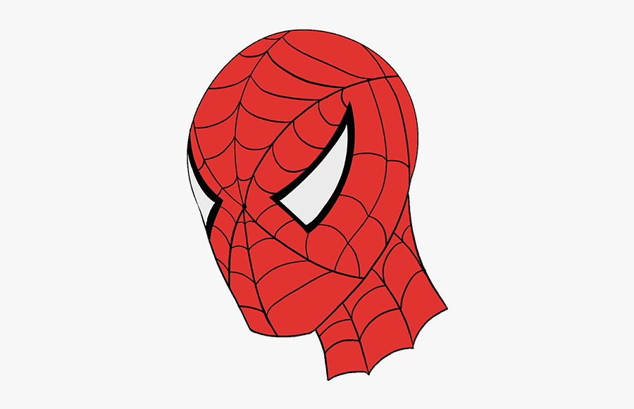"""Drawn Spiderman Spider Man""""s Face - Easy Drawing To Spider Man Face, Transparent Clipart"""