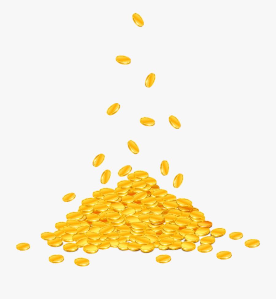 #stpatricksday#h #shamrock #lucky #leprechaun #potofgold - Gold Coin Falling Png, Transparent Clipart