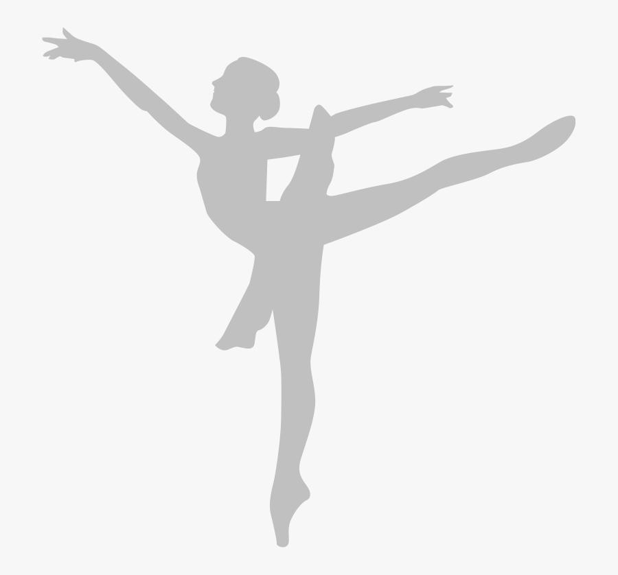 Ballet Dancer Arabesque Silhouette - Ballet Dancer, Transparent Clipart
