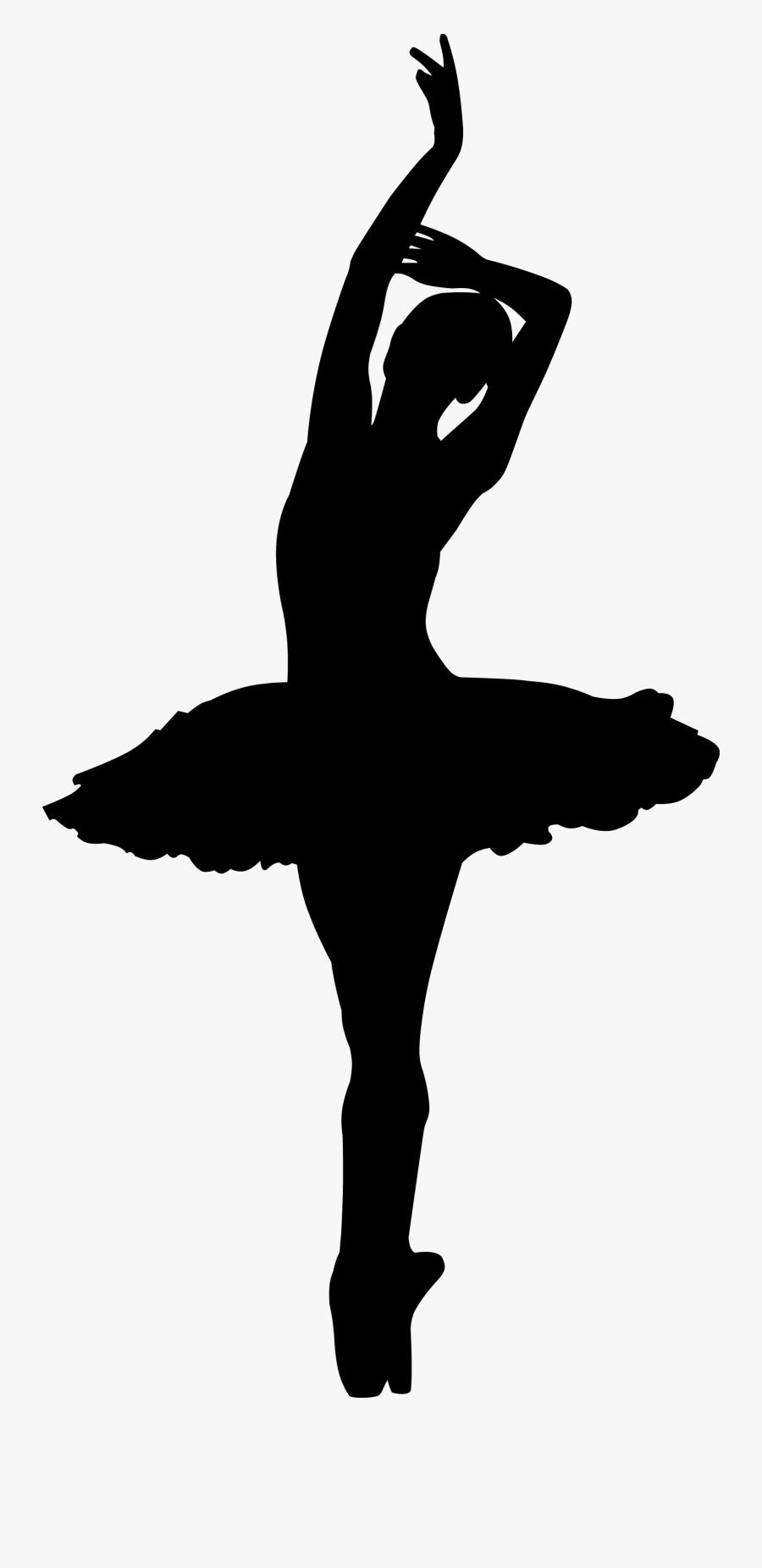 Pointe Ballet Dancer Silhouette, Transparent Clipart