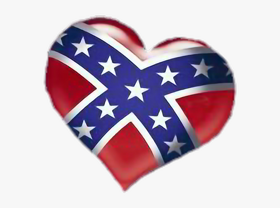 Transparent Rebel Flag Clipart - Rebel Flag Heart, Transparent Clipart