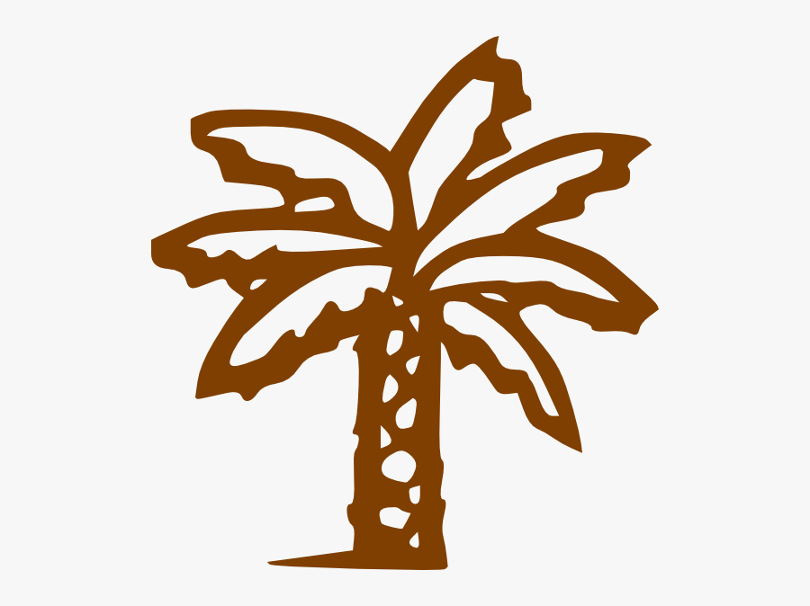 Brown Tree Svg Clip Arts 564 X 594 Px - Palm Tree Clip Art Black, Transparent Clipart