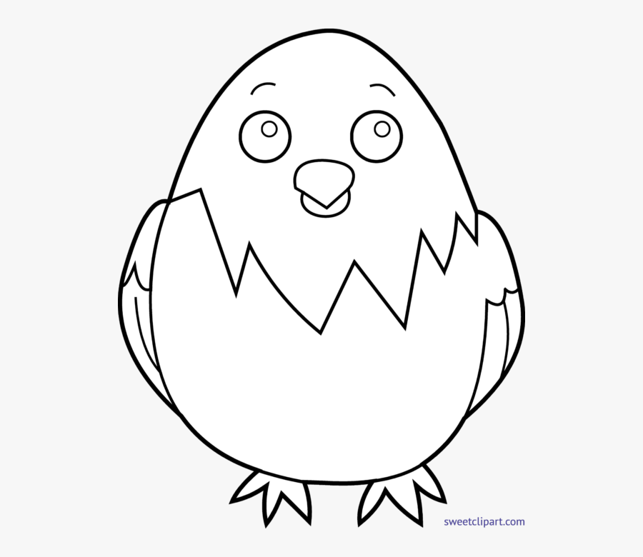Baby Chicks Lineart - Baby Chicken Face Drawing, Transparent Clipart
