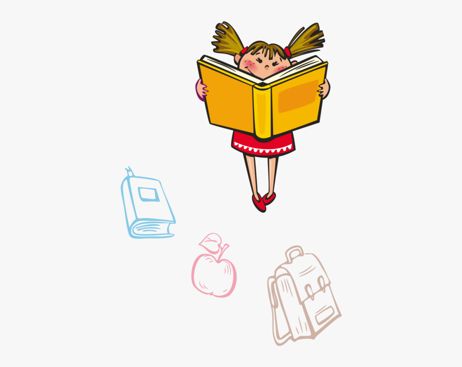Fashion Accessory,area,line - Girl Reading Png, Transparent Clipart
