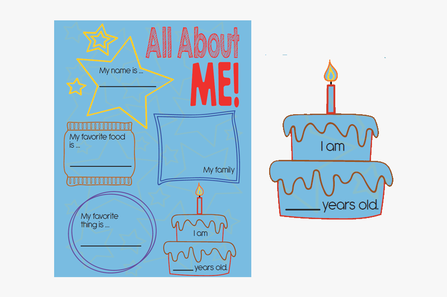 All About Me And My Family Project, Transparent Clipart