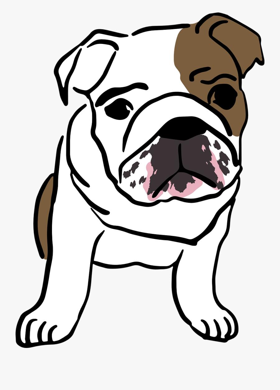 English Bulldog Cartoon Png, Transparent Clipart